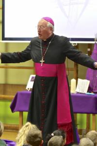 bishop arms wide talking